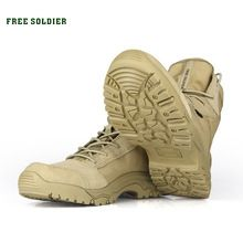 FREE SOLDIER outdoor shoes men's tactical boots for climbing breathable lightweight mountain boots hiking shoes(China (Mainland))
