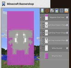 Minecraft Banner Patterns, Cool Minecraft Banners, Minecraft Pe, Minecraft Projects, Minecraft Designs, Minecraft Stuff, Minecraft Crafts, Minecraft Buildings, Minecraft Building Guide