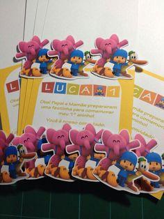 Convites Pocoyo - Papelaria Personalizada