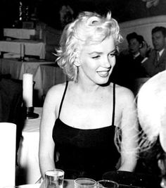 #Marilyn #Monroe at the Mocambo Club, 1954.