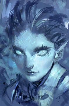 Icy glare by medders.deviantart.com on @DeviantArt
