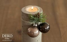 DIY stylischer Adventskranz aus Beton Deko-Kitchen