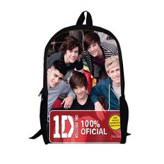 For Christmas Popular singer One Direction girl shopping bags student school bag teenager backpacks free shipping Customizable