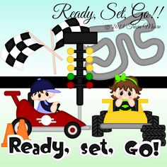 Ready, Set, Go!!svg, gsd, dxf, wpc, ai, pdf, png, and jpeg