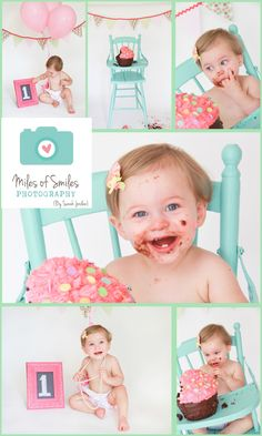 Smash cake photo shoot by Miles of Smiles photography