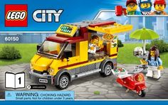 View LEGO instructions for Pizza Van set number 60150 to help you build these LEGO sets