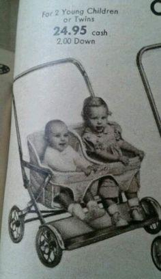 1956 double stroller sears book