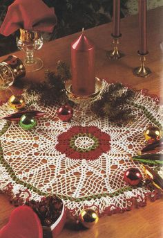 Christmas Doily Crochet Pattern