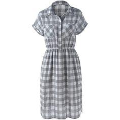 Slit Plaid Short Sleeve Casual Dress (285 ZAR) ❤ liked on Polyvore featuring dresses, slit dress, tartan dress, tartan plaid dresses, short-sleeve dresses and plaid dress