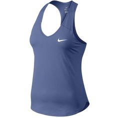 Nike Women's Court Pure Tennis Tank ($34) ❤ liked on Polyvore featuring activewear, activewear tops, nike activewear, nike and nike sportswear