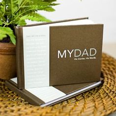 Perfect gift for Dad. The kids can interview him and find out all his secret stories. Perfect keepsake.
