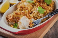 Baked Breaded Cod - If cod isn't a staple in your kitchen, it's about to become one. A mayo-parmesan-breadcrumb coating creates a flavorful topping for the flaky baked fish. Cod Recipes, Fish Recipes, Dinner Recipes, Healthy Recipes, Breaded Cod, Parmesan Crisps, Carrot Salad, Baked Fish, Easy Weeknight Dinners