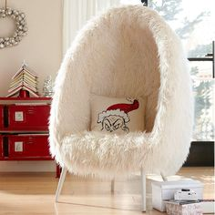 furlicious egg chair instead of a hanging chair - Dorm Room Chairs