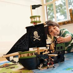Toy Pirate Ship - Wooden Toys - Toys & Gifts - gltc.co.uk