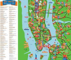 NEW YORK TOURIST MAP | Mps+Nvg | Pinterest | Tourist map, Bus route ...
