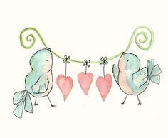 Bird's & hearts