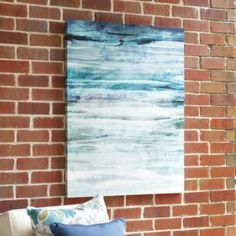 Our favorite designers are using water-inspired art to introduce seaside color, indoors and out. The Cool Water Outdoor Print was created fr...