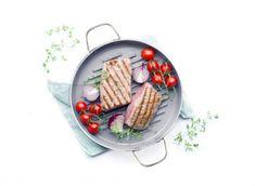 patelnia na grilla, świetna na steki, mięsa, zastępuje grilla, szczególnie praktyczna dla wszystkich mieszkających w bloku