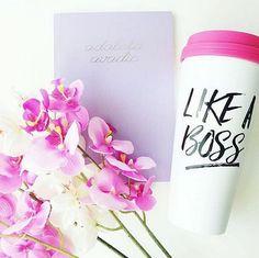 Like A Boss Travel Mug Travel Mug Tumbler by sweetwaterdecor