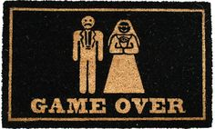 Rohožka Game over N Game, Gifts, Design, Garden, Humor In Spanish, Originals, Decorations, Presents, Garten