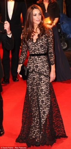Catherine, Duchess of Cambridge wearing a Lace dress, 'War Horse' film premiere, London, 2012 #katemiddleton