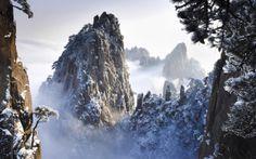 冬の黄山(中国)