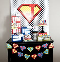 vintage super hero party