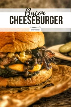 The simplest yet most satisfying bacon cheeseburger you've probably ever had! On your plate in under 10 minutes. #cheeseburger #beefburger #burger #beefpattie #lunch #easy #bbq #barbecue Lunch Recipes, Beef Recipes, Dinner Recipes, Yummy Recipes, My Favorite Food, Favorite Recipes, Cheeseburger Recipe, Smoked Bacon, Dessert For Dinner