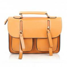 $10.69 Vintage Style Women's Tote Bag With Zipper and PU Leather Design