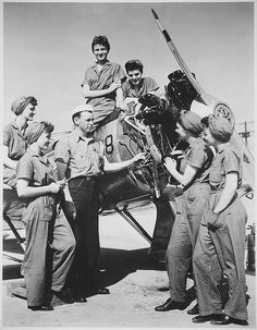 A Group of Women Prepare to Take Over Aircraft Maintenance... by The U.S. National Archives