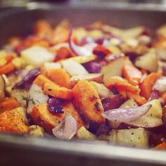 Roasted root vegetables for six hundred.