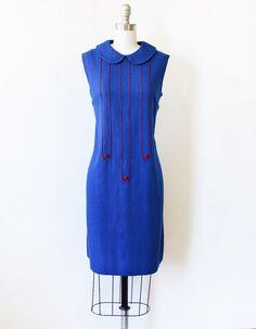1960s blue mod dress vintage 60s mod scooter by RustBeltThreads