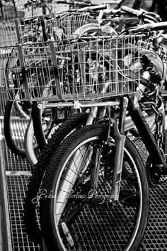 City bike B&W wall art  photo print by GalinaKotivetsPhoto on Etsy
