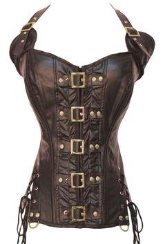 Coffee Buckle-up Steampunk Corset LC5342 sexy women bustier underwear size S-XXL #Dearlover #Sexy