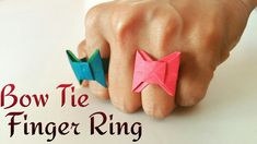 """How to make a paper """"Bow Tie  Finger Ring """"  - Origami Tutorial"""