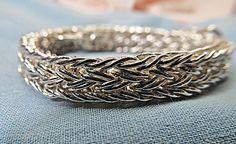 Fine Silver Handwoven Bracelet by JM Silver Gold