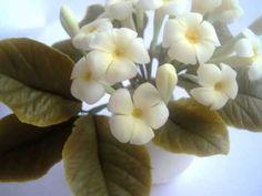 Живые цветы из холодного фарфора - YouTube