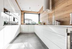 Galeria realizacji | WFM KUCHNIE - meble kuchenne Home Decor Kitchen, Kitchen Dinning Room, Kitchen Remodel, Open Plan Kitchen, Kitchen Room Design, Kitchen Dinning, Kitchen Layout, Modern Kitchen Design, Kitchen Design