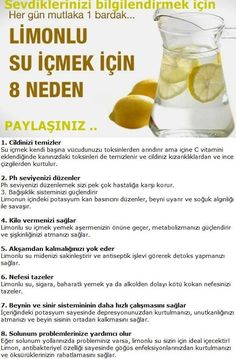 Limonlu su içmek için 8 neden
