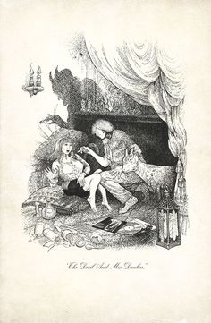 'The Devil & Mrs. Dunbar' from 'Rollaresque or The Rakish Progress of the Rolling Stones' by Simon Goddard. Out Now, published by Ebury.  Containing a series of 8 of my illustrations with a nod to #Phiz (aka . Hablot Knight Browne), the illustrator for Dickens.  From The Illustrated World of Mr. Chadwick