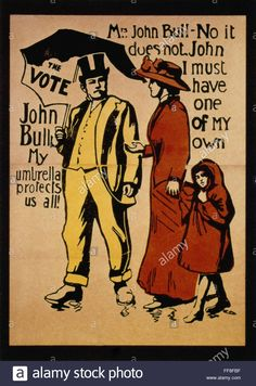 Women's Rights, C1911. /nenglish Poster Advocating The Vote For Stock Photo, Royalty Free Image: 95459379 - Alamy