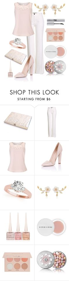 """""""She said yes."""" by astrild15 ❤ liked on Polyvore featuring Roberto Cavalli, Jacques Vert, Paper Dolls, Christian Louboutin, Herbivore, Guerriero, Guerlain, LORAC and plus size clothing"""