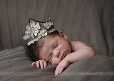 newborn crown with sequins