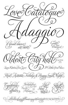 I enjoy searching for beautiful fonts & keeping up on what's new – here's a selection of the latest fonts I'm digging: Adios Script at Veer Nelly Script Flourish by Tart…