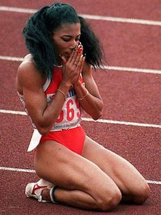 Florence Griffith Joyner, also known as Flo-Jo, was an American Olympic track… Flo Jo, Black Girl Magic, Black Girls, Poses, Olympic Track And Field, Track Field, Sport Icon, Fit Chicks, Female Athletes
