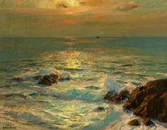 Albert Julius Olsson - Sunlight on the sea