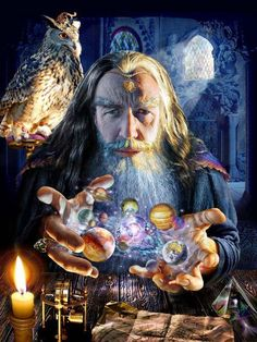 The Great Wizard Merlin Merlin is a Title.I've either known a Merlin or have been an apprentice to one.maybe even became one - a very long long time ago Mago Merlin, Merlin Merlin, Psy Art, Ascended Masters, Spirit Science, Quantum Physics, Gandalf, Self Talk, Fantasy World