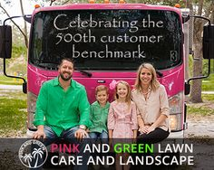 Celebrating our 500th Customer Benchmark | Pink and Green