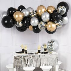 Glitz and Glam Balloon Garland - DIY Balloon Clouds - Bubblegum Balloons 16 Balloons, Bubblegum Balloons, Balloon Clouds, Balloon Arch, Balloon Garland, Birthday Balloons, Balloon Decorations, Birthday Decorations, Latex Balloons