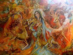 Painting | Iranian Painting-The Warmth Of by ~ sonia-p